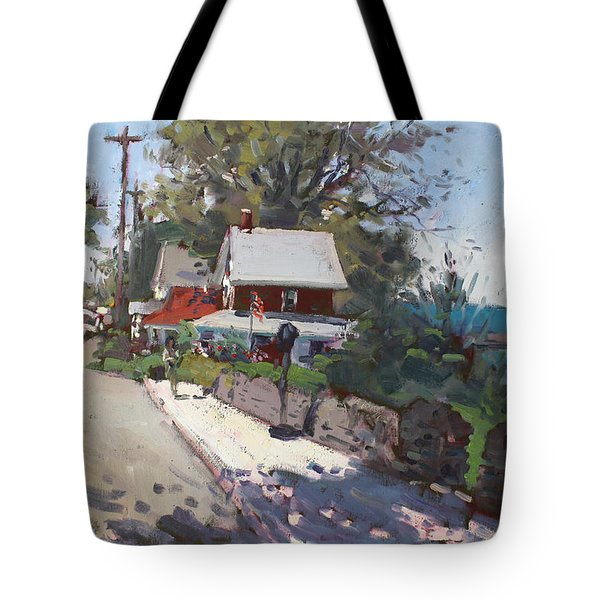 Street In Olcott Beach  Tote Bag