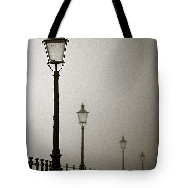 Street Lamps Tote Bag by Dave Bowman