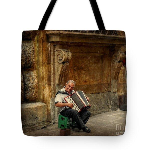 Street  Music Tote Bag by Valerie Reeves