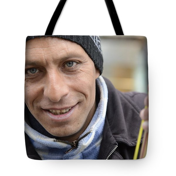 Street Musician - The Gypsy Bassist 1 Tote Bag