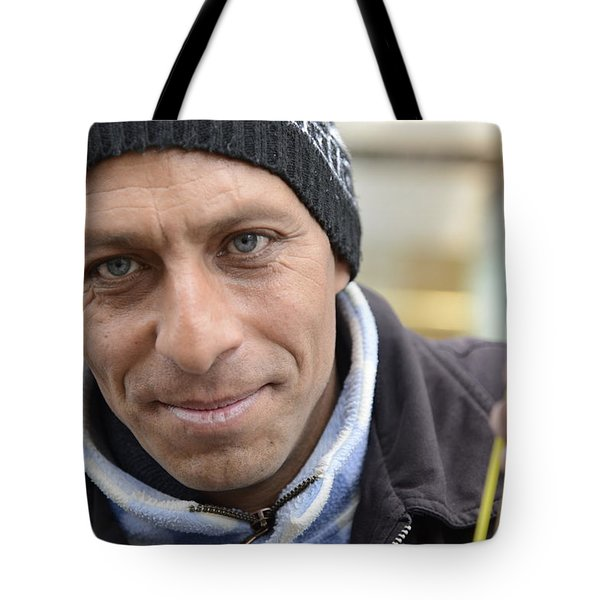 Street Musician - The Gypsy Bassist 2 Tote Bag