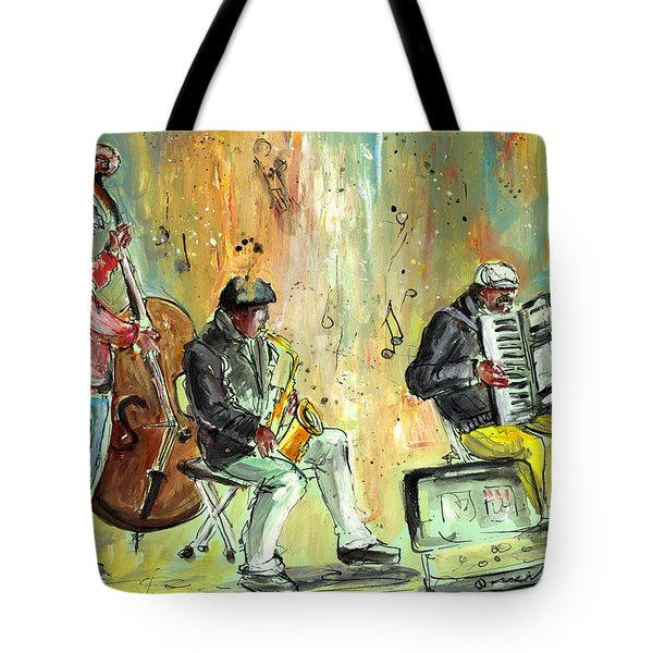 Street Musicians In Dublin Tote Bag