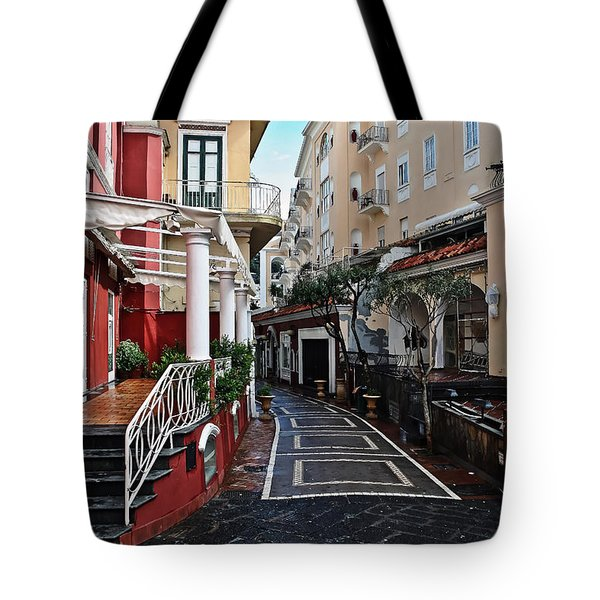 Street Of Capri Tote Bag