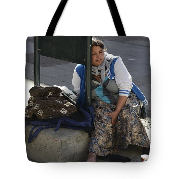 Street People - A Touch Of Humanity 10 Tote Bag by Teo SITCHET-KANDA