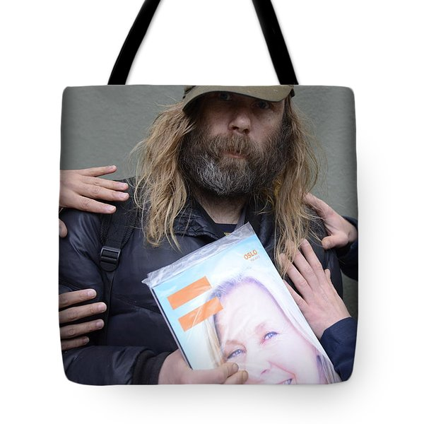 Street People - A Touch Of Humanity 12 Tote Bag by Teo SITCHET-KANDA