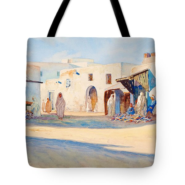 Street Scene From Tunisia. Tote Bag
