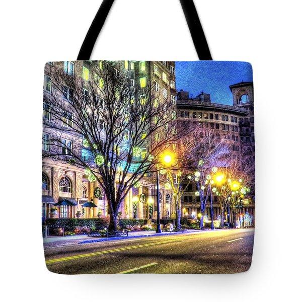 Street Scene In Georgia Tote Bag