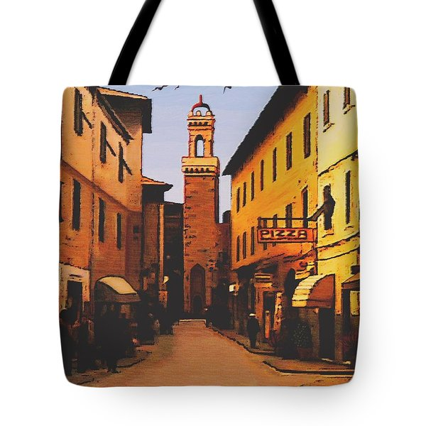 Tote Bag featuring the painting Street Scene by Sophia Schmierer