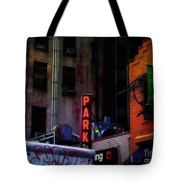 Graffiti And Grand Old Buildings Tote Bag by Miriam Danar