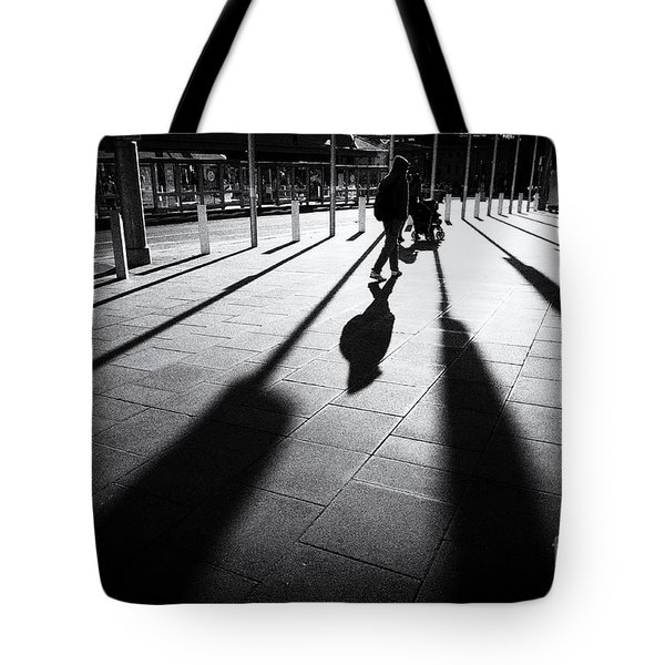 Tote Bag featuring the photograph Street Shadow by Yew Kwang