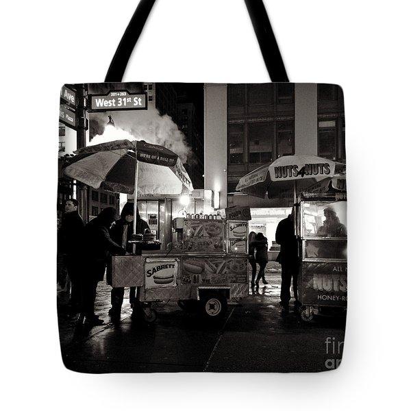 Street Vendor Row Tote Bag