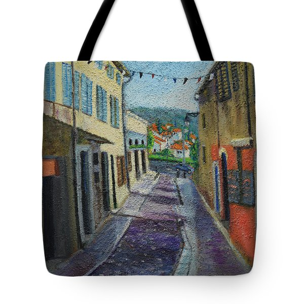 Street View From Provence Tote Bag