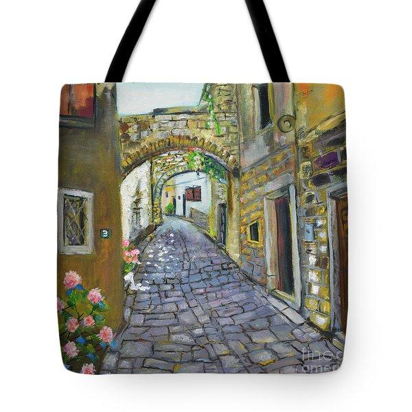 Street View In Pula Tote Bag
