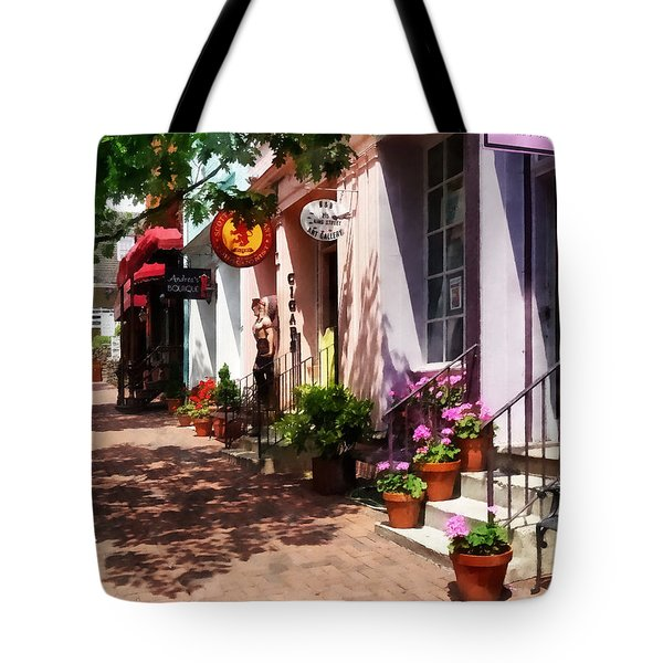 Alexandria Va - Street With Art Gallery And Tobacconist Tote Bag