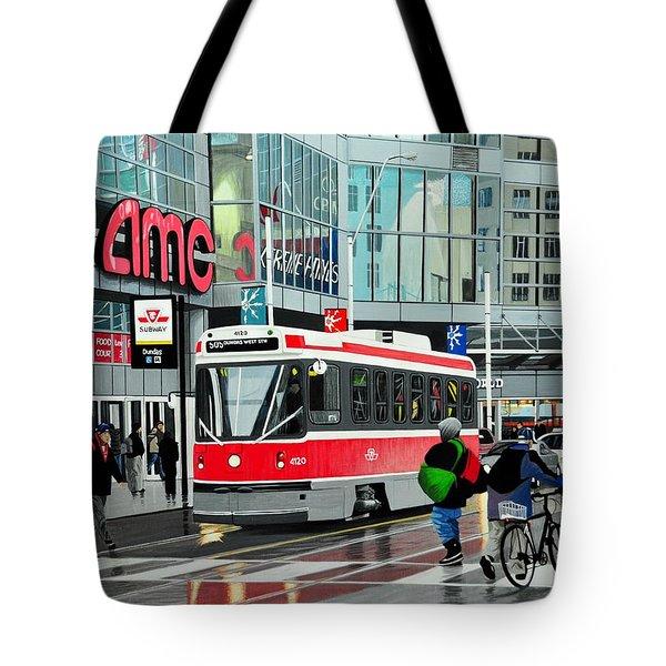Streetcar On Dundas Tote Bag by Kenneth M  Kirsch