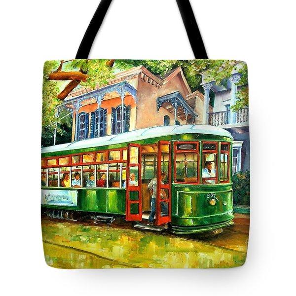 Streetcar On St.charles Avenue Tote Bag by Diane Millsap