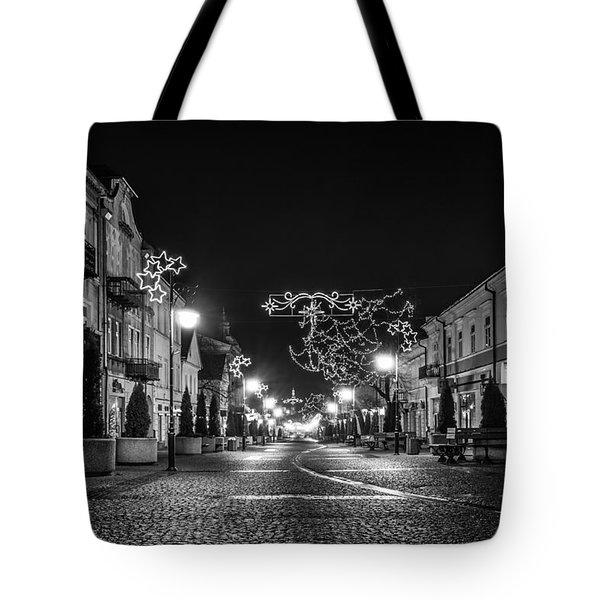 Streets Before Christmas Tote Bag