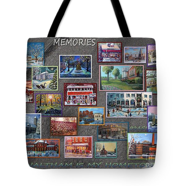 Tote Bag featuring the painting Streets Full Of Memories by Rita Brown