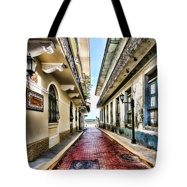 Streets Of El Casco Viejo 2  Tote Bag