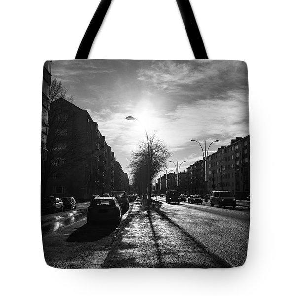 Streets Of Helsinki Tote Bag