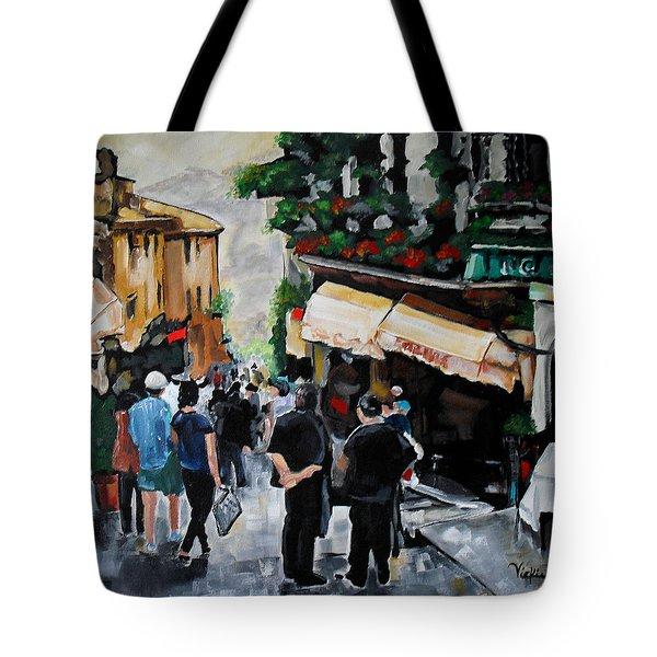 Streets Of Italy Tote Bag by Vickie Warner