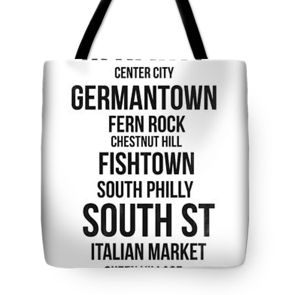 Streets Of Philadelphia 3 Tote Bag