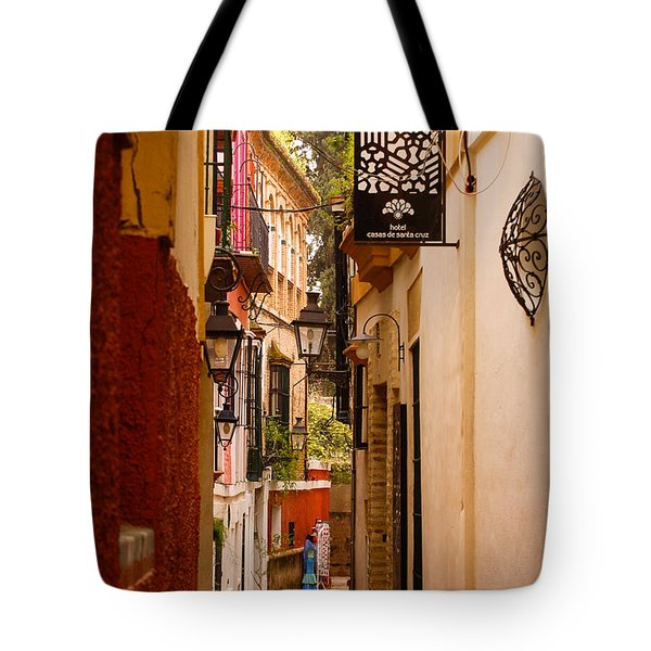 Streets Of Seville  Tote Bag by Andrea Mazzocchetti