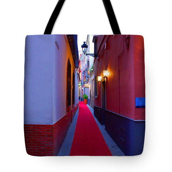 Streets Of Seville - Red Carpet  Tote Bag by Andrea Mazzocchetti