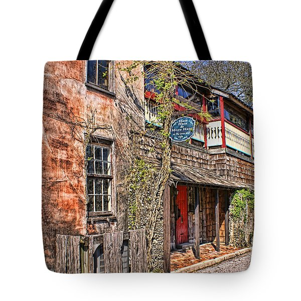 Tote Bag featuring the photograph Streets Of St Augustine Florida by Olga Hamilton