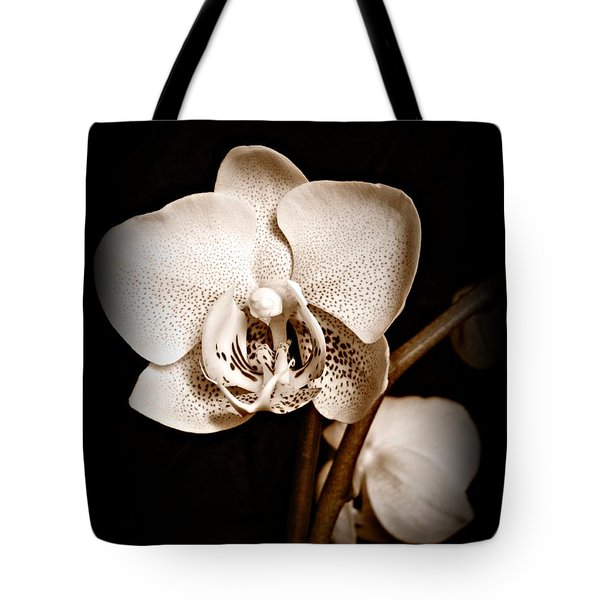 Strength And Beauty Sepia Tote Bag