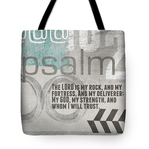 Strength And Trust- Contemporary Christian Art Tote Bag by Linda Woods