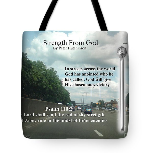 Strength From God Tote Bag