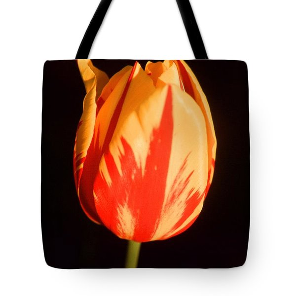 Strength Of A Flower Tote Bag by Jonathan Michael Bowman