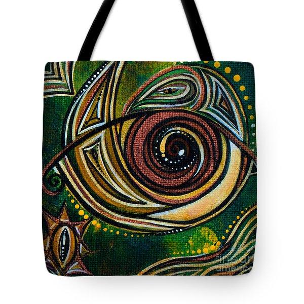 Tote Bag featuring the painting Strength Spirit Eye by Deborha Kerr