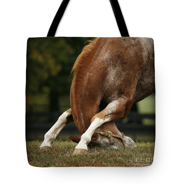 Stretching My Neck Tote Bag