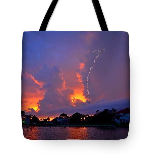 Strike Up The Middle At Sunset Tote Bag by Jeff at JSJ Photography