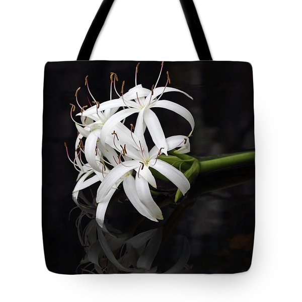 Tote Bag featuring the photograph String Lily #1 by Paul Rebmann