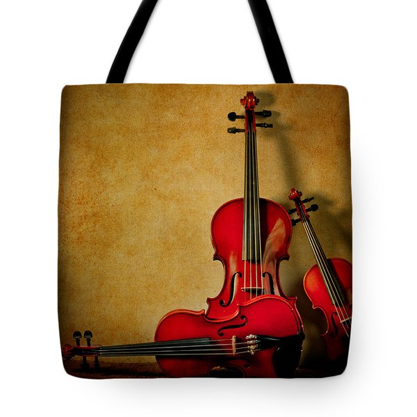 String Trio Tote Bag by David and Carol Kelly