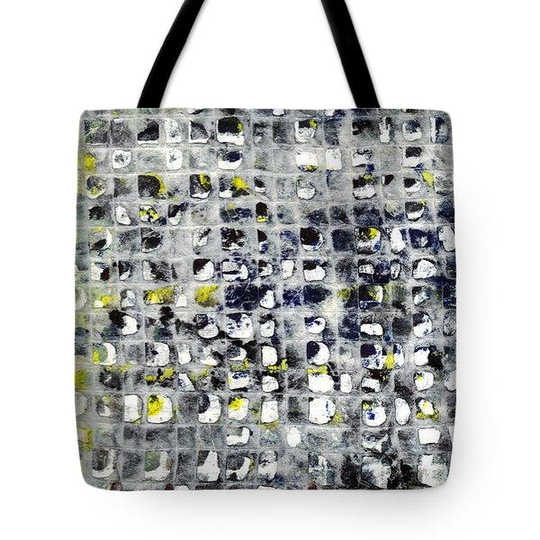 Tote Bag featuring the painting Stringent Lace by Lesley Fletcher