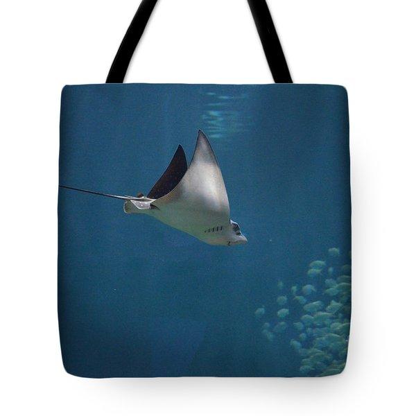 Stringray Heading Towards Fish Tote Bag by DejaVu Designs