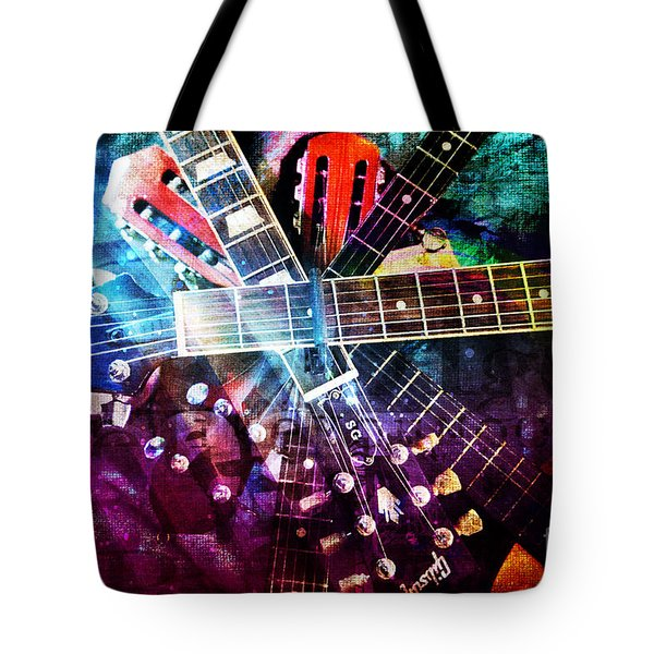 Strings Attached Tote Bag
