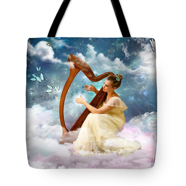 Strings Of My Heart Tote Bag