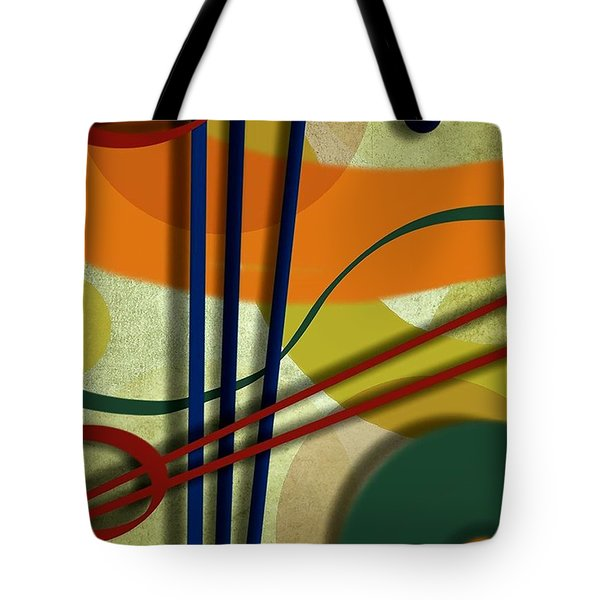Abstract Strings Tote Bag