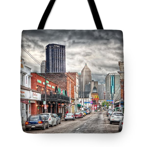 Strip District Pittsburgh Tote Bag by Emmanuel Panagiotakis