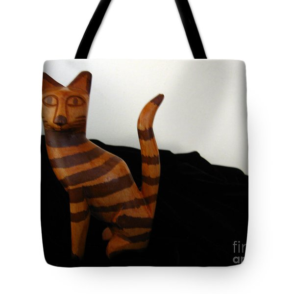 Striped Cat Tote Bag