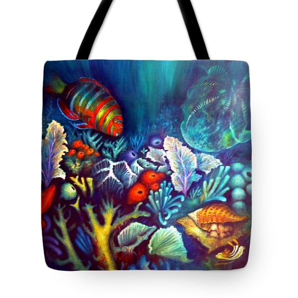 Striped Fish Tote Bag