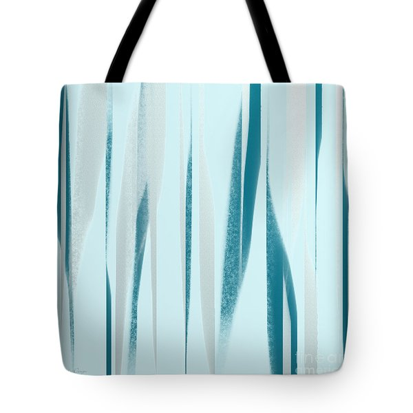 Stripes 9 Abstract Square Tote Bag by Andee Design