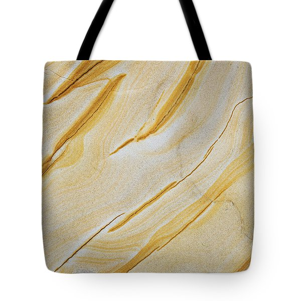 Stripes In Stone Tote Bag