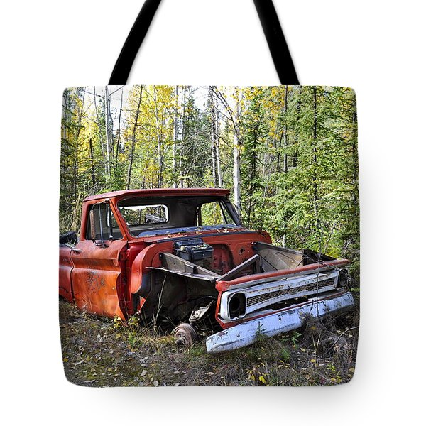 Tote Bag featuring the photograph Stripped Chevy by Cathy Mahnke