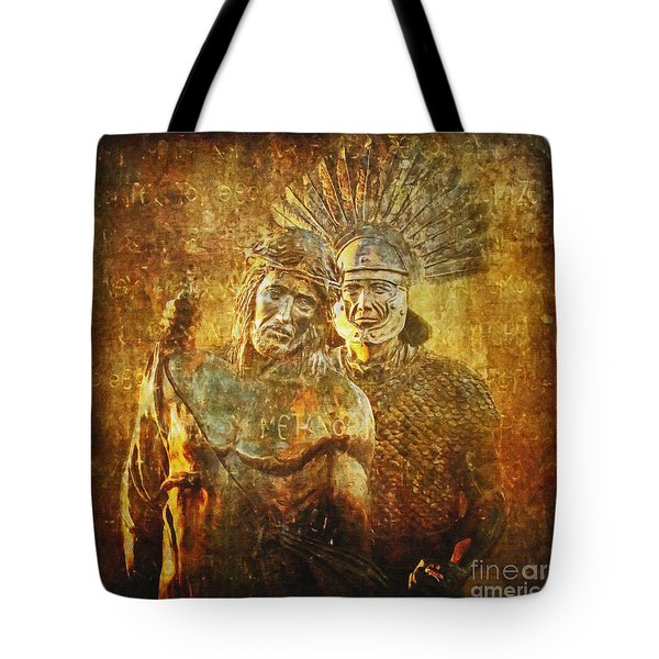 Stripped Of His Garments Via Dolorosa 10 Tote Bag